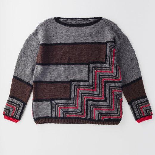 ジグザグ模様のセーター