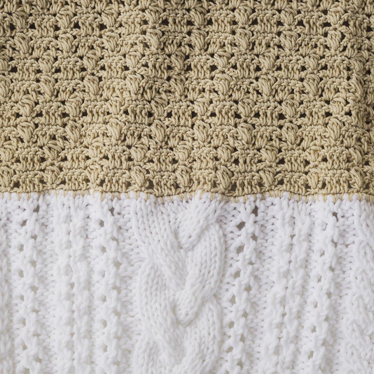 棒針とかぎ針のプルオーバー(半袖)