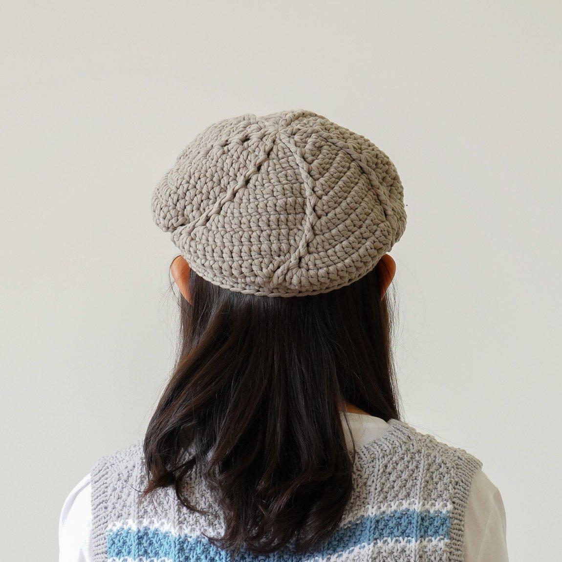 スパイラルベレー帽