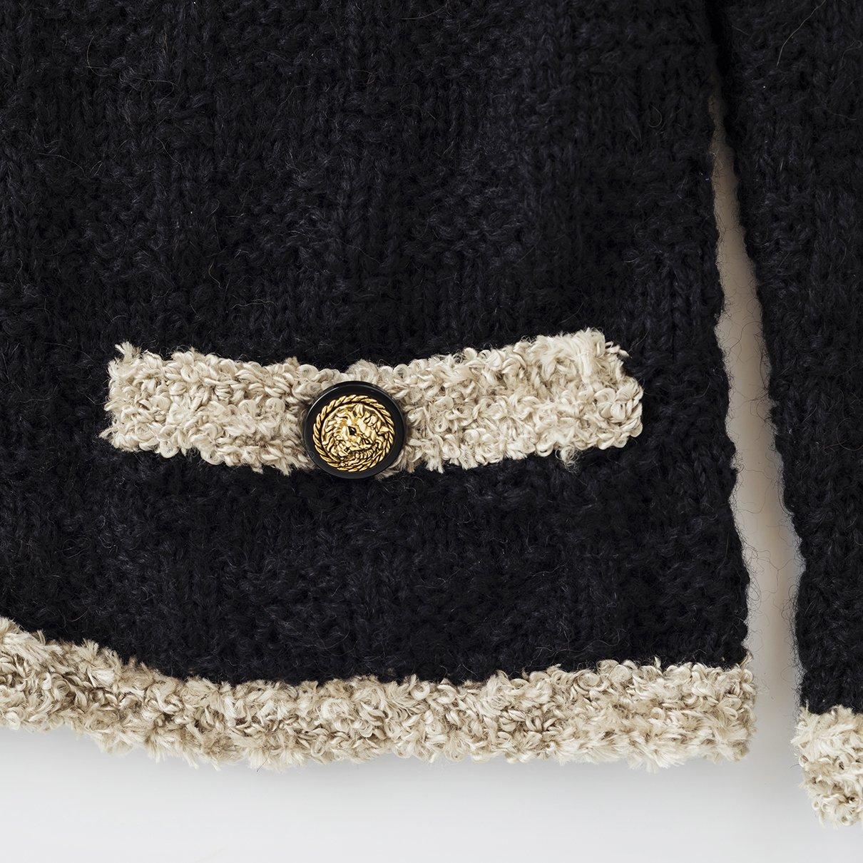 切りポケットのジャケット(フラッフィー)