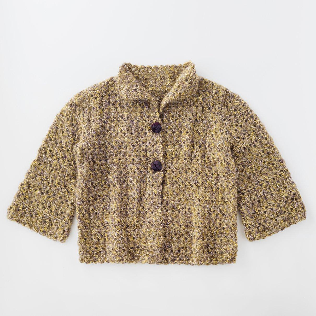 ほうき編みジャケット