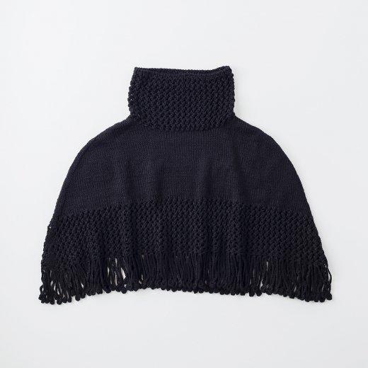 透かし編みのタートルケープ