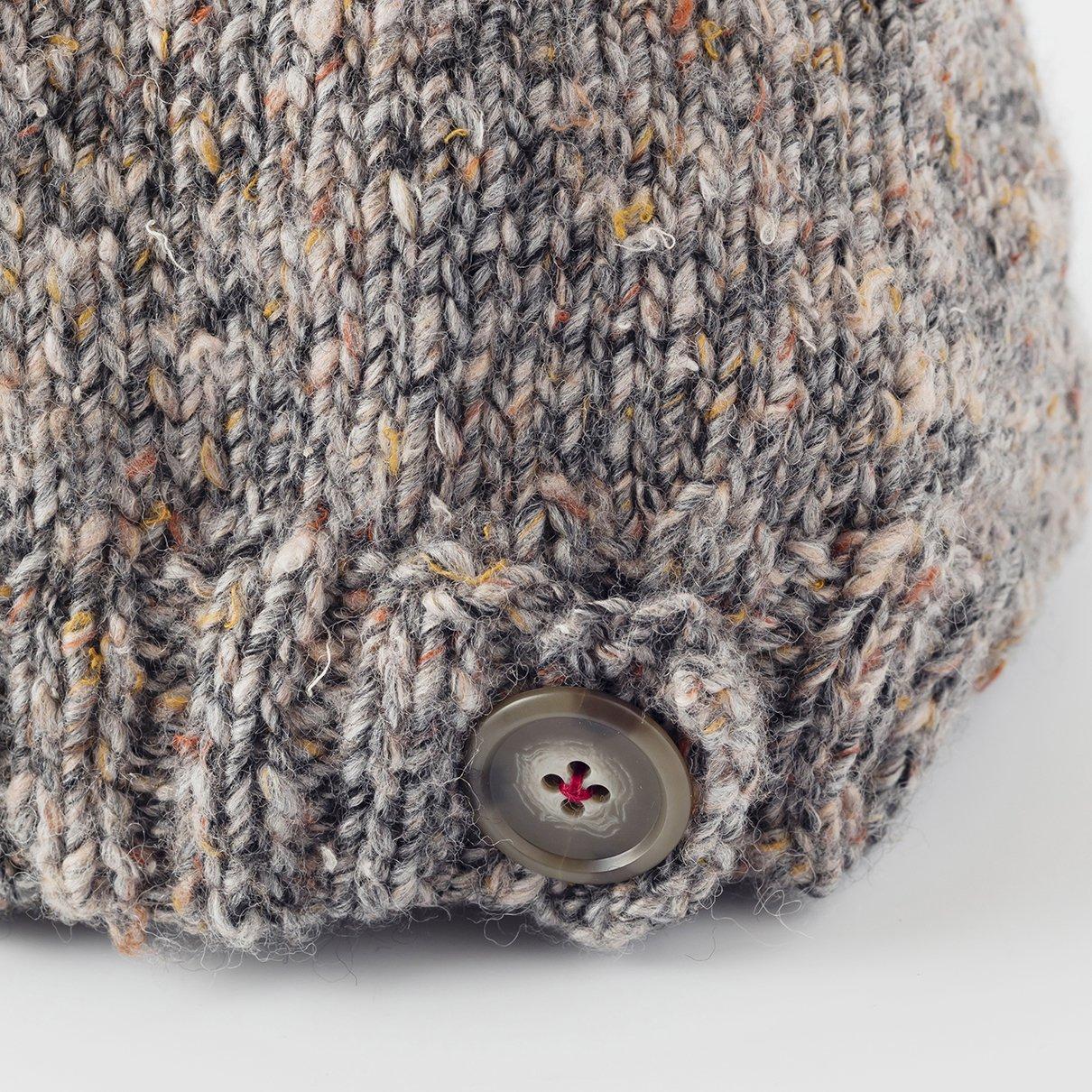 ボタンがポイントの帽子
