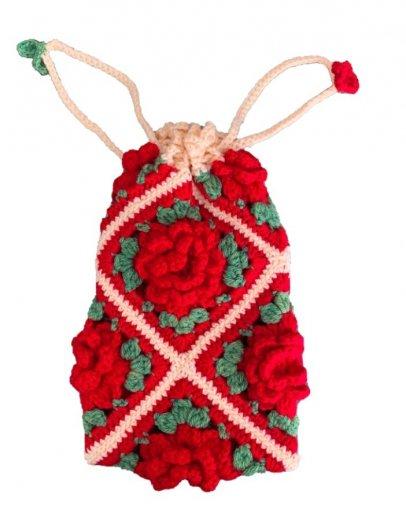 お花のモチーフ巾着