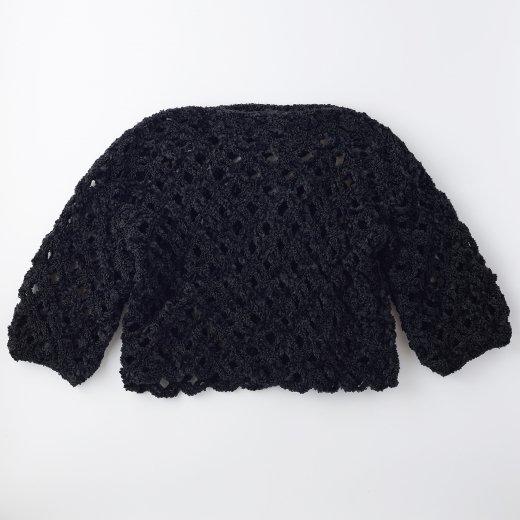 ネット編みプルオーバー