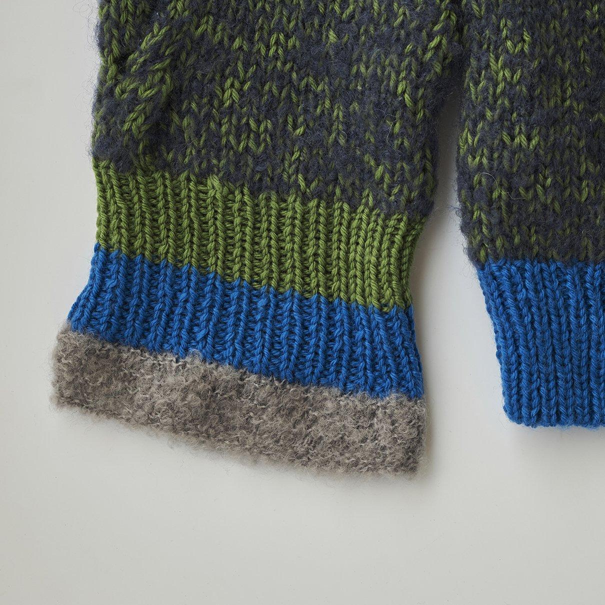 カノン編みのプルオーバー