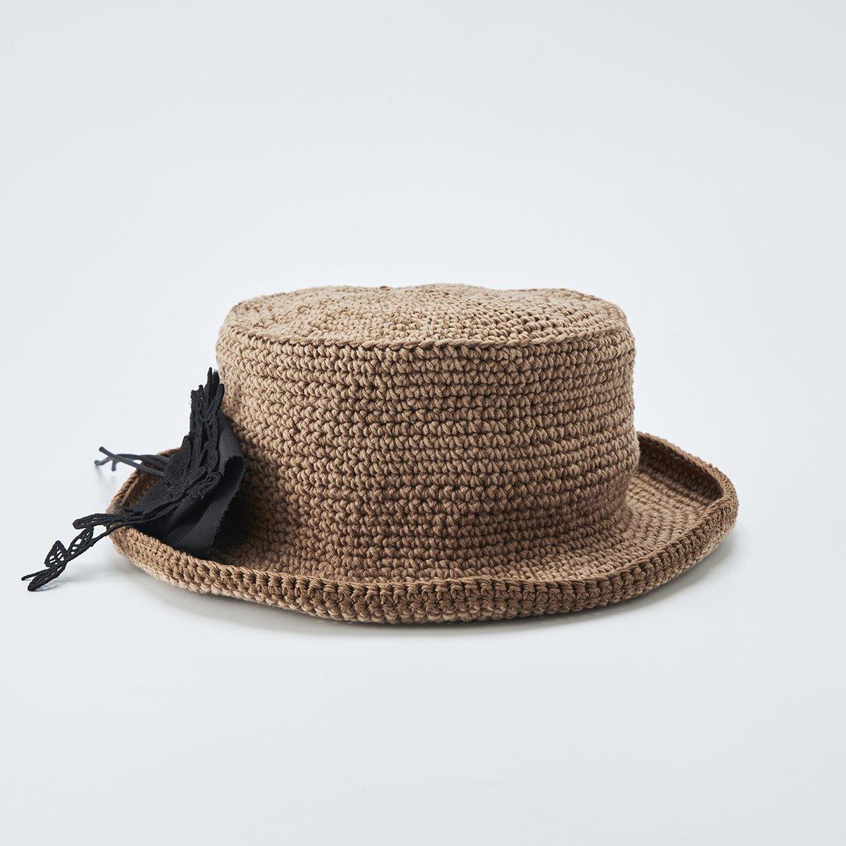 コサージュがポイントの帽子(コサージュ付き)