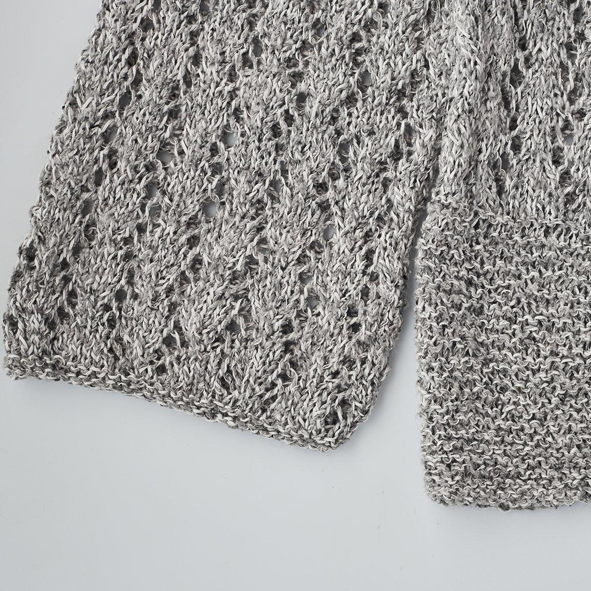 透かし編みまっすぐプルオーバー