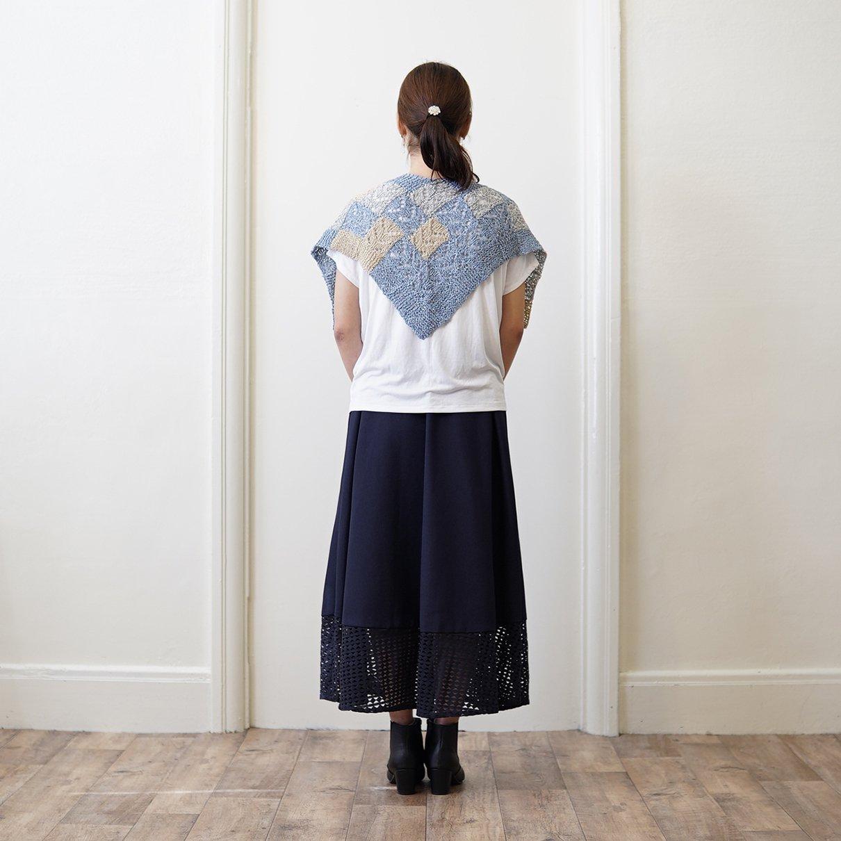 バスケット編みのショール