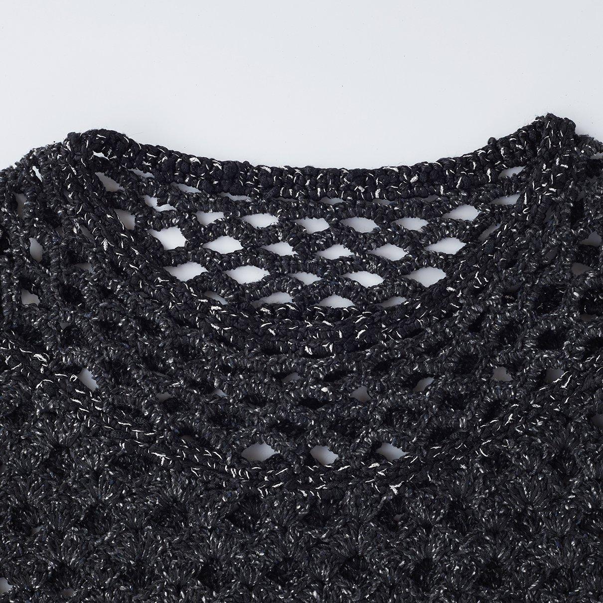 松編み模様のプルオーバー