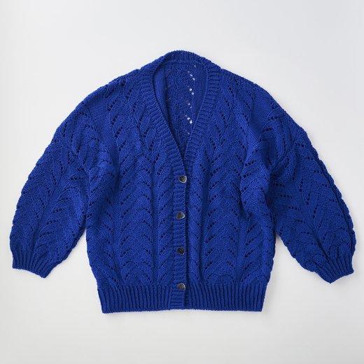 透かし編みのカーディガン