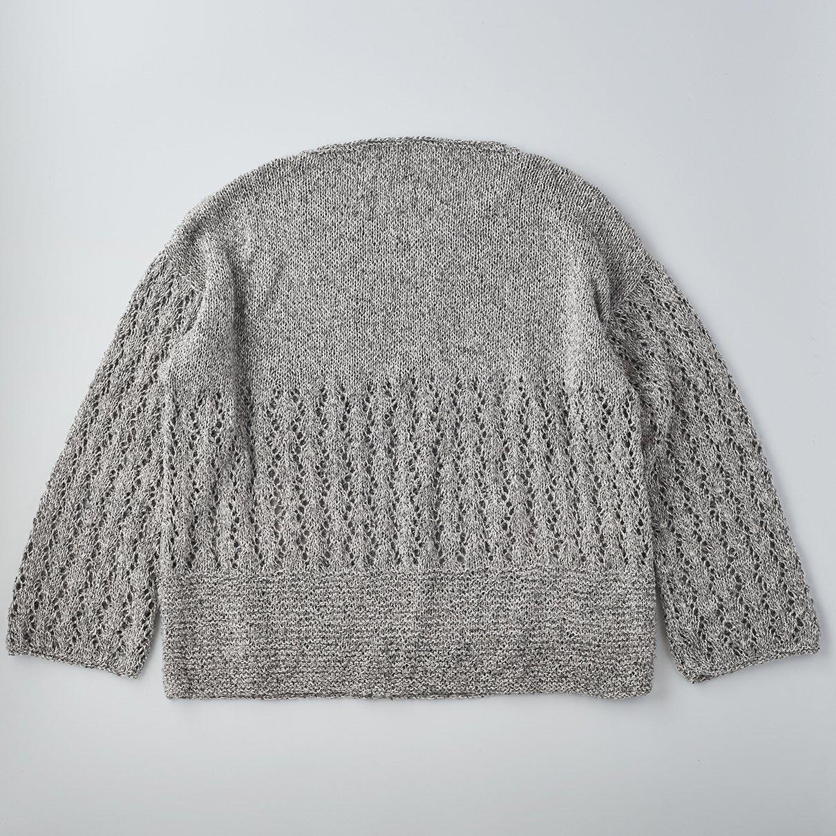 透かし編みまっすぐプルオーバー Lサイズ