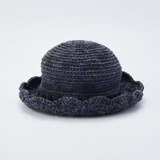 松編みブリムの帽子