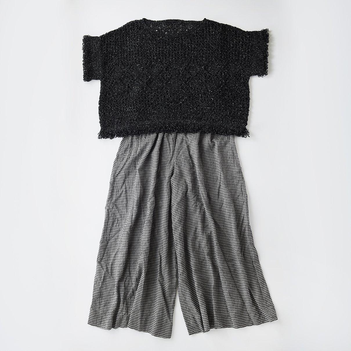 オーツのリング編みのプルオーバー