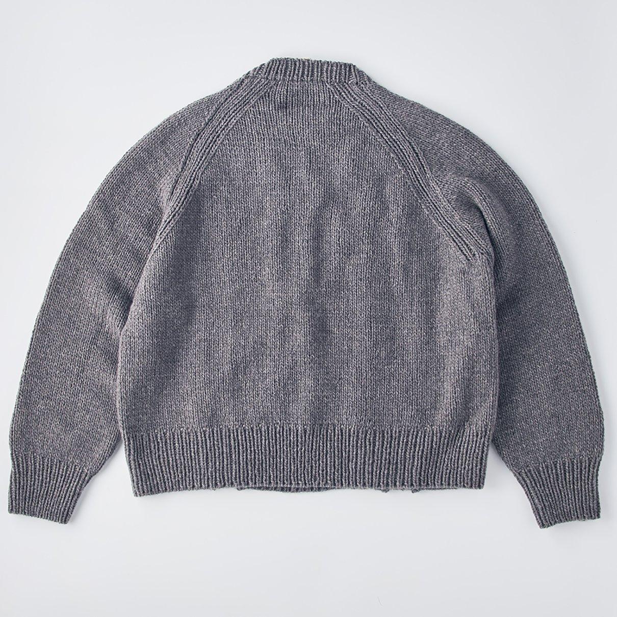 太いなわ編みのプルオーバー