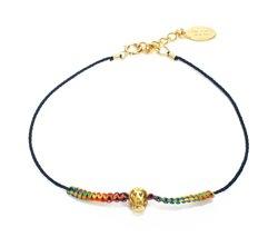 chibi jewelsブレスレット レインボースレッド  ラブスカル ネイビー/レインボー 通販