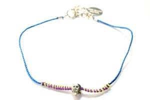 chibi jewelsブレスレット ネオンスレッド  ラブスカル ブルー/ネオン 通販