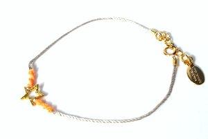 chibi jewelsブレスレット ネオンスレッド ウィズ スターチャーム オレンジ/スター 通販