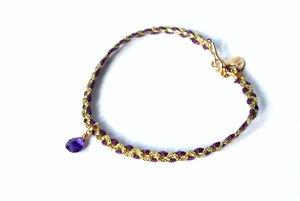 chibi jewelsブレスレット カラーコード ウィズ アメジスト パープル/アメジスト 通販