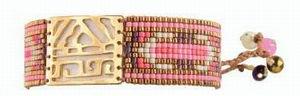 Mishkyブレスレット ゴールド アフリカ パープル/ピンク/コパー M 通販