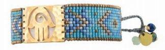 Mishkyブレスレット ゴールド ハムサハンド ブルー/ベージュ/コパ− M 通販