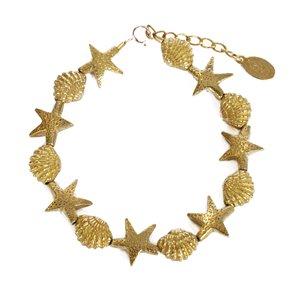 chibi jewelsブレスレット スターフィッシュ&コックル シェル ビーズ 通販