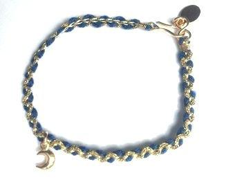 chibi jewelsブレスレット カラーコード ウィズ クレセントムーンチャーム/ブルー 通販