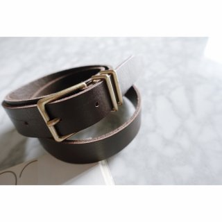 <img class='new_mark_img1' src='//img.shop-pro.jp/img/new/icons56.gif' style='border:none;display:inline;margin:0px;padding:0px;width:auto;' />Square Buckle Leather Belt<br>[Brown]