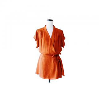 BALENCIAGA<br>Orange Silk One-piece