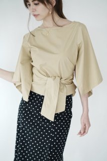 Waist Mark Design Blouse[BEIGE]