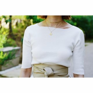 Basic Boat-neck Tops<br>[WHITE]