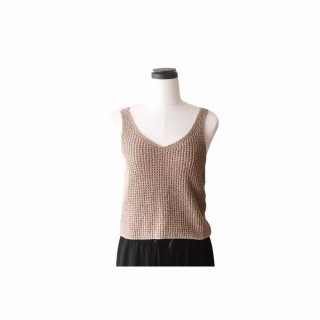 Basic Knit Camisole<br>[BEIGE]