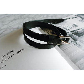 <img class='new_mark_img1' src='//img.shop-pro.jp/img/new/icons8.gif' style='border:none;display:inline;margin:0px;padding:0px;width:auto;' />Basic Fake Leather Belt<br>[BLACK]