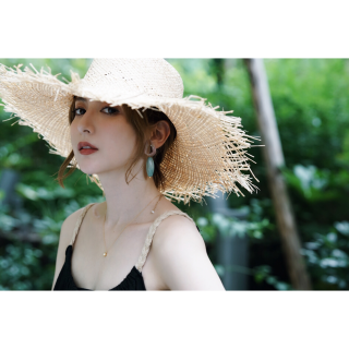 <img class='new_mark_img1' src='//img.shop-pro.jp/img/new/icons8.gif' style='border:none;display:inline;margin:0px;padding:0px;width:auto;' />Resort Wide Summer hat<br>[Beige]