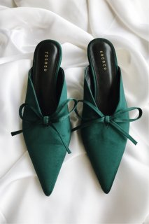 Pointed Ribbon Mule[Green]<br>[24cm]