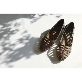 Pointed Mesh Flat Shoes<br>[23/24/25]