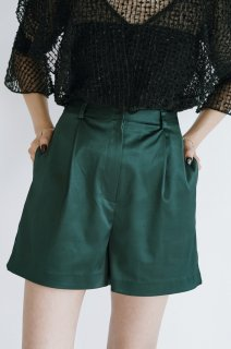 <img class='new_mark_img1' src='//img.shop-pro.jp/img/new/icons8.gif' style='border:none;display:inline;margin:0px;padding:0px;width:auto;' />Shiny High-waist Short Pants<br>[Red/Green]