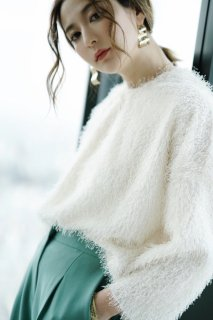 Shaggy Knit P/O<br>[White]