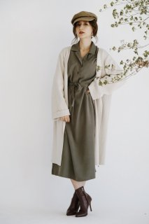 Long Shirt One-piece<br>[Khaki/Blown]