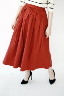 Flare Long Skirt<br>[Red]