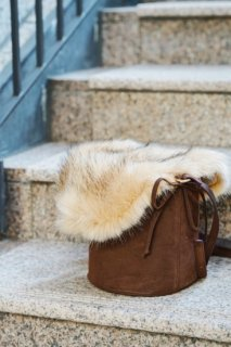 <img class='new_mark_img1' src='//img.shop-pro.jp/img/new/icons8.gif' style='border:none;display:inline;margin:0px;padding:0px;width:auto;' />Fur×Bucket Type Bag<br>[Brown]