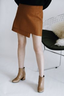 <img class='new_mark_img1' src='//img.shop-pro.jp/img/new/icons8.gif' style='border:none;display:inline;margin:0px;padding:0px;width:auto;' />Wool Blend Mini-skirt<br>[Camel/Wine]