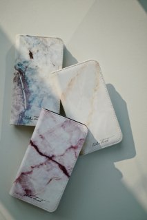 MOBILE CASE<br>【iPhone6/7/8】【iPhoneX】<br>天然石柄・手帳型ケース