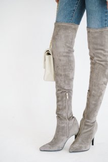 Fake suede Thigh-high Boots<br>[24.5cm]