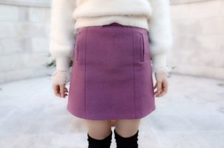 <img class='new_mark_img1' src='//img.shop-pro.jp/img/new/icons8.gif' style='border:none;display:inline;margin:0px;padding:0px;width:auto;' />Wool Mini-skirt<br>[Pink]