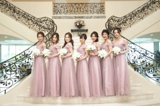 ーRentalー<br>LALs brides Bridesmaid Dress<br>【PINK/S,M,L】