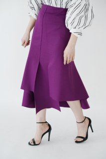<img class='new_mark_img1' src='//img.shop-pro.jp/img/new/icons8.gif' style='border:none;display:inline;margin:0px;padding:0px;width:auto;' />Design Cut Flare Skirt<br>[Purple]