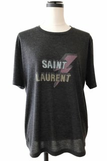 <img class='new_mark_img1' src='//img.shop-pro.jp/img/new/icons8.gif' style='border:none;display:inline;margin:0px;padding:0px;width:auto;' />SAINT LAURENT<br>Lightning Bolt Print T-shirt