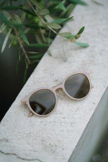 Classic Round Frame Sunglasses-UV400-<br>[BEIGE]