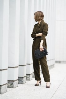 Coat Look All-in-one<br>[KHAKI]
